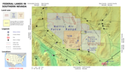 Map showing Area 51.