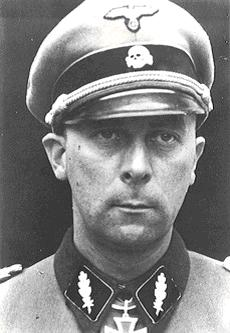Wilhelm Mohnke as a Standartenführer of the SS-Panzergrenadier Regiment 26