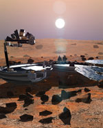 British-built Beagle 2 also reached Mars.