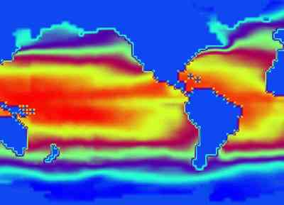 sea surface temperature.