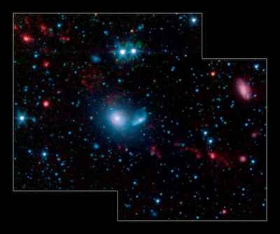 Spitzer space telescope has spotted a few dwarf Galaxies.