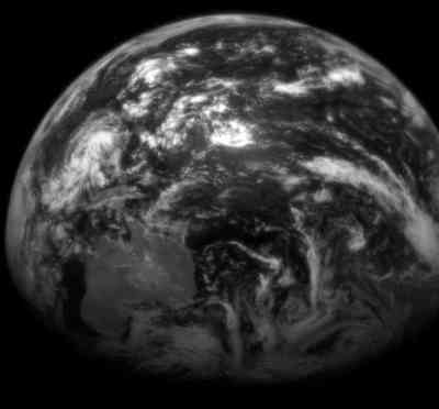 Earth taken by MESSENGER on July, 30.