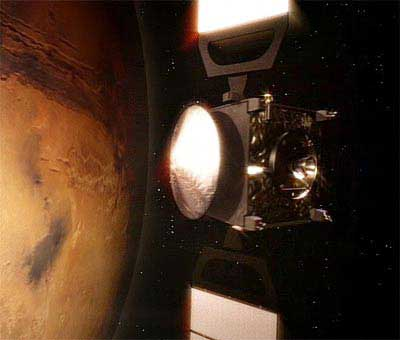 Martian atmosphere release energy in the form of photons.