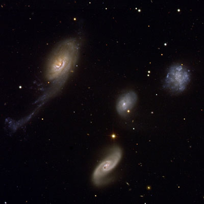 4 very different Galaxies located about 160 million light-years from Earth.