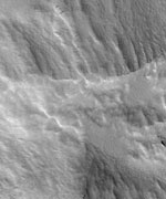 Giant volcano called Pavonis Mons.