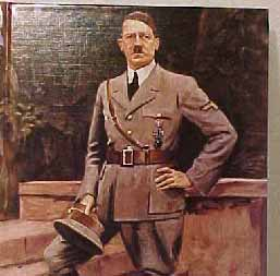 Portrait of a Monster: Adolf Hitler Nazi Germany Leader.