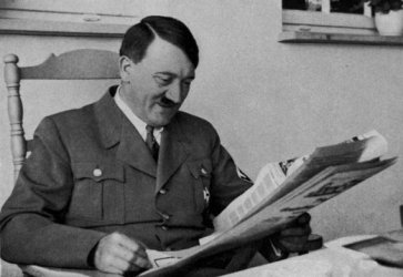 Hitler reads of early victories.