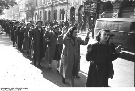 Holocaust Captured Jewish women.