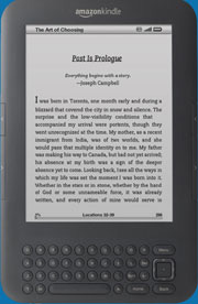 Amazon Kindle EBook Reader: Click For More Information.