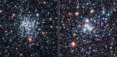 Twin Open clusters by Hubble.