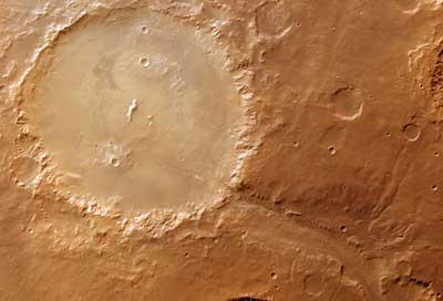Mars Express took this image of 140-km.