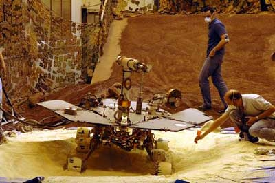 Mars rovers here on Earth.