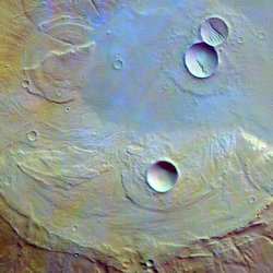 Ancient Martian Volcano Caldera.