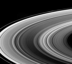 Rings Lit by Saturn's Shine.
