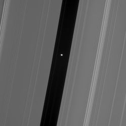 Pan in Saturn's Rings.