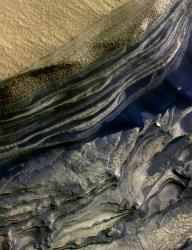 Ice layers on Mars.