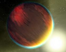 Artist impression of HD 209458b. Image credit: NASA/JPL-Caltech/T. Pyle.