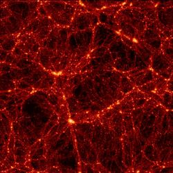 Dark matter distribution. Image credit: Max-Planck Institute for Astrophysics.