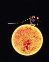 Ulysses spacecraft and the Sun. Image credit: ESA.