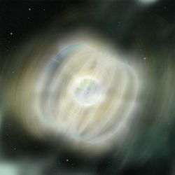 Artist illustration of a Magnetar. Image credit: Aurore Simonnet SSU NASA E/PO.