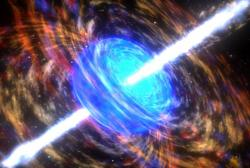 Artist illustration of a gamma ray burst. Image credit: NASA.