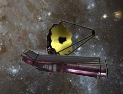 Artist impression of the James Webb telescope. Image credit: NASA.