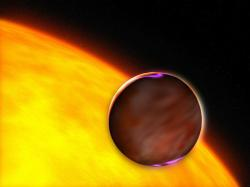 Artist impression of XO-1b, a similar planet. Image credit: NASA/ESA/HST.