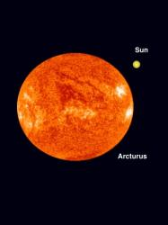 Arcturus and the Sun.