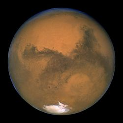 Mars, the Red Planet. Image credit: NASA/JPL.