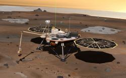 Artist impression of the Mars Phoenix Lander. Image credit: NASA/JPL.