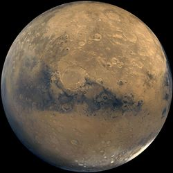 Mars. Landing here is going to be hard. Image credit: NASA/JPL.