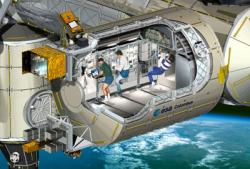 Artist's cutaway view of Columbus laboratory. Source:ESA.