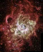 Newly forming stars in Galaxy M33.