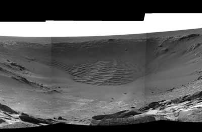 Opportunity rover Endurance crater.