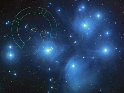 The Pleiades cluster.