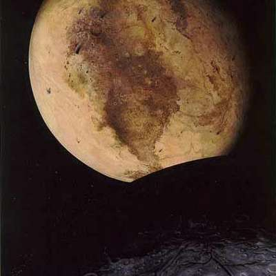 Pluto and its Moon Charon.