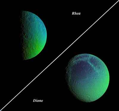 Saturn's icy moons.
