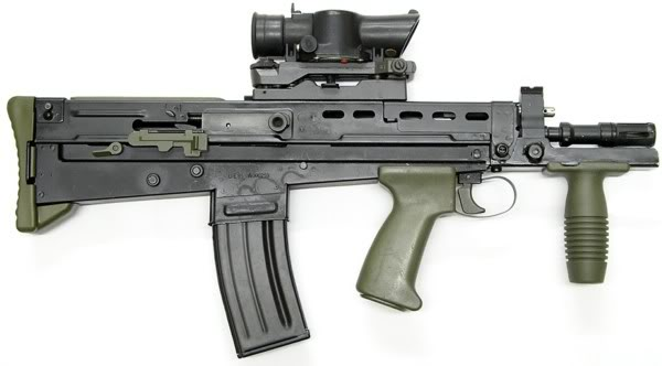 British assault rifle SA80.