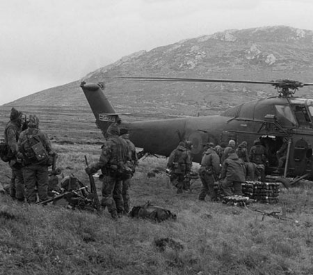SAS in the Falklands.