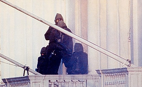 SAS assault the Iranian embassy London.