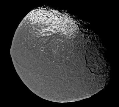 Take a good look at Saturn's Moon Iapetus.