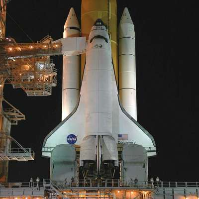 Space Shuttle on Mobile Launcher.