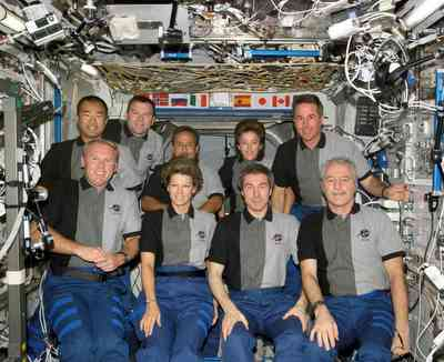 The Expedition 11 and STS-114 crewmembers.