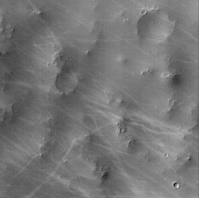 Dust devil tracks.