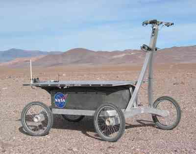 solar-powered rover.